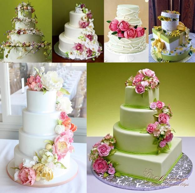 Edible Cake Decoration with Flowers
