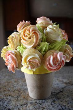 Edible Flower Bouquet Cupcakes
