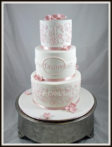 Elegant Christening Cakes for Girls