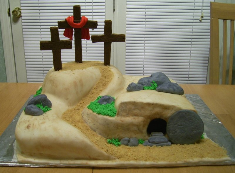 Empty Tomb Cake Easter