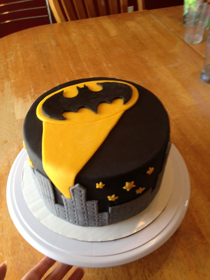 Ganache Fondant Batman Cake