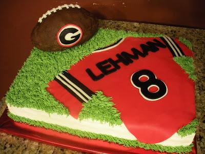 Georgia Bulldog Football Birthday Cakes