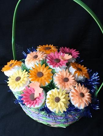 Gerber Daisy Cupcake Bouquet