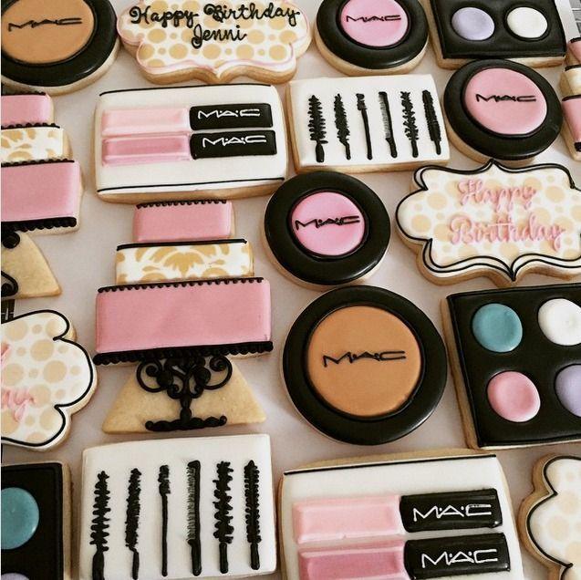 Girly Birthday Cake Cookies