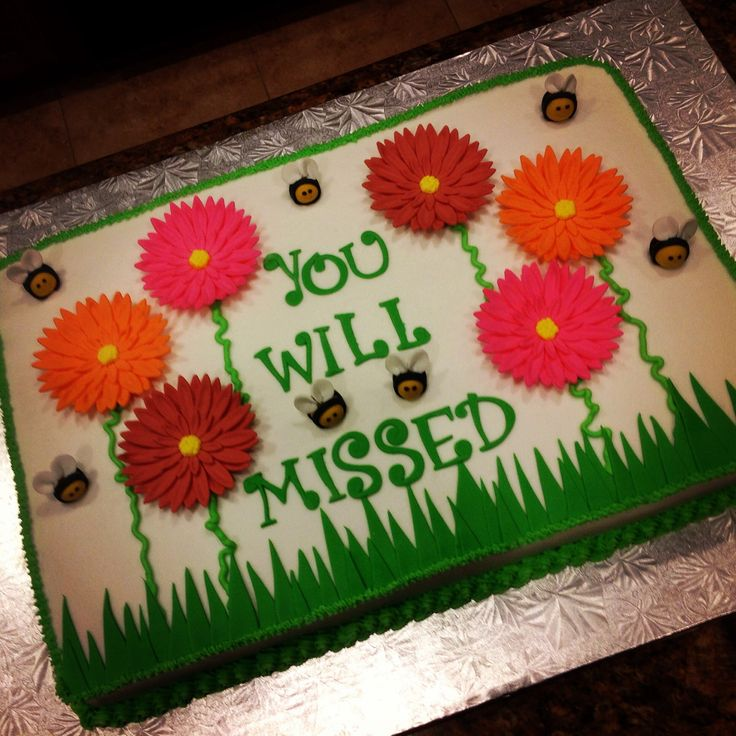 Going Away Cake Ideas