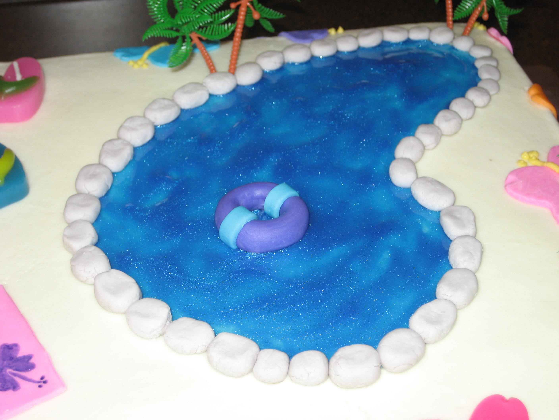 Hawaiian Pool Party Cake