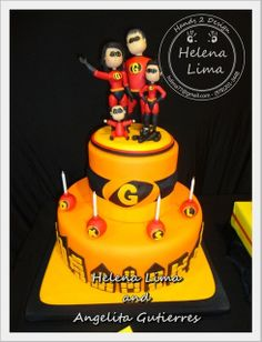 Incredibles Birthday Party Cake
