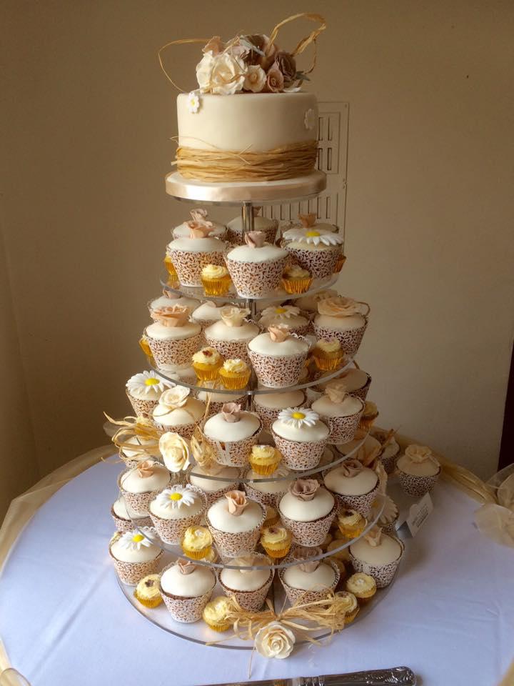 Individual Cupcake Wedding Cakes