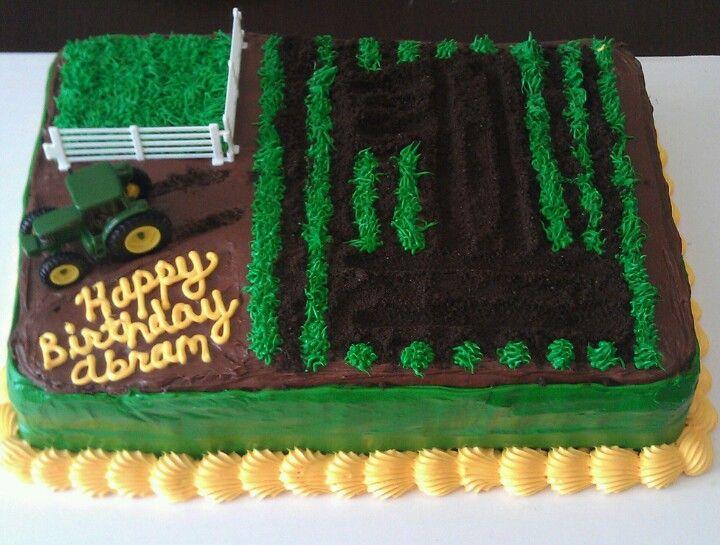 Astounding 12 Birthday Cakes Farm Equipment Photo John Deere Tractor Funny Birthday Cards Online Amentibdeldamsfinfo