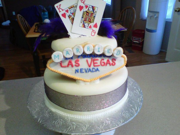 Las Vegas Shower Cake