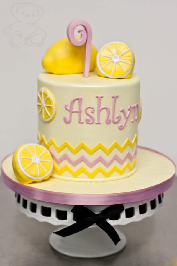 Lemon Themed Birthday Cake