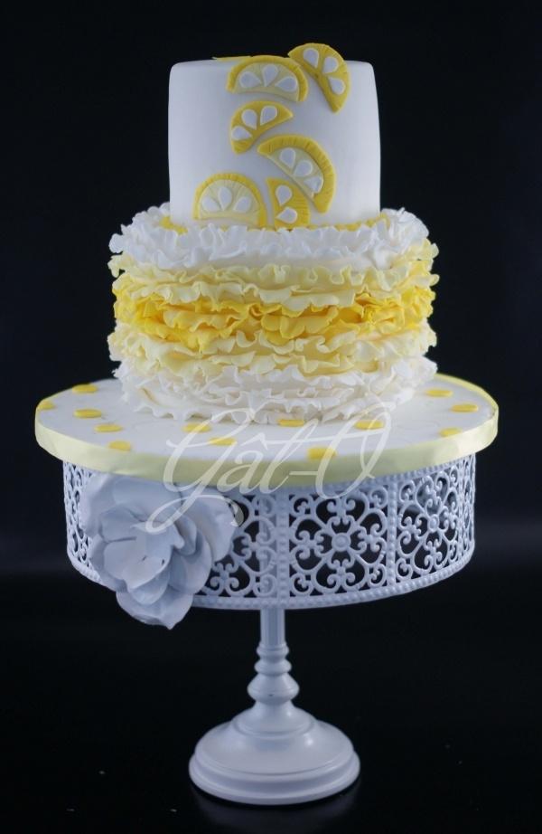 Lemonade Themed Birthday Cake