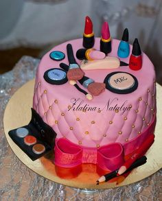 Makeup Birthday Cake Ideas