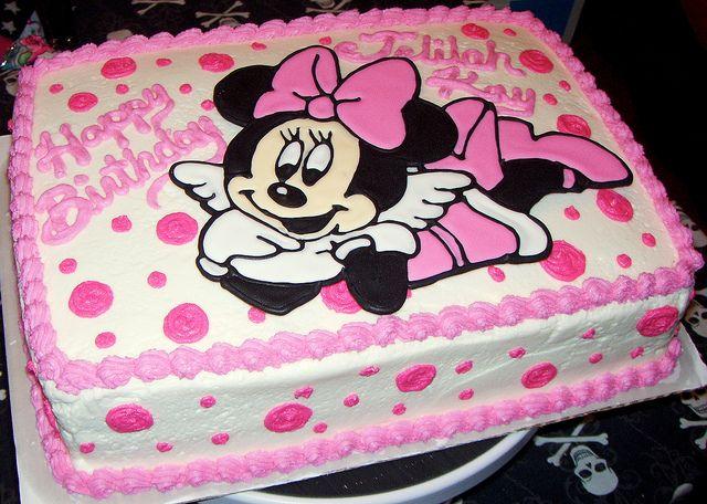 Minnie Mouse Birthday Sheet Cakes