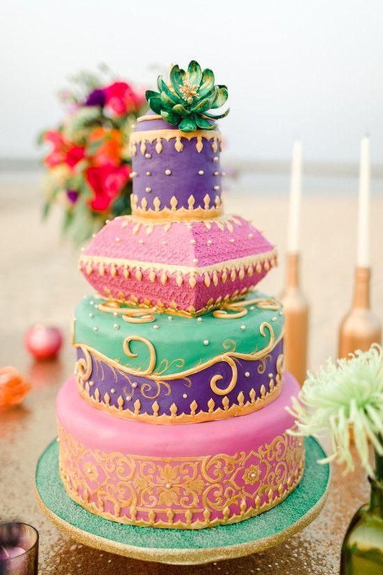Moroccan Wedding Pillow Cake