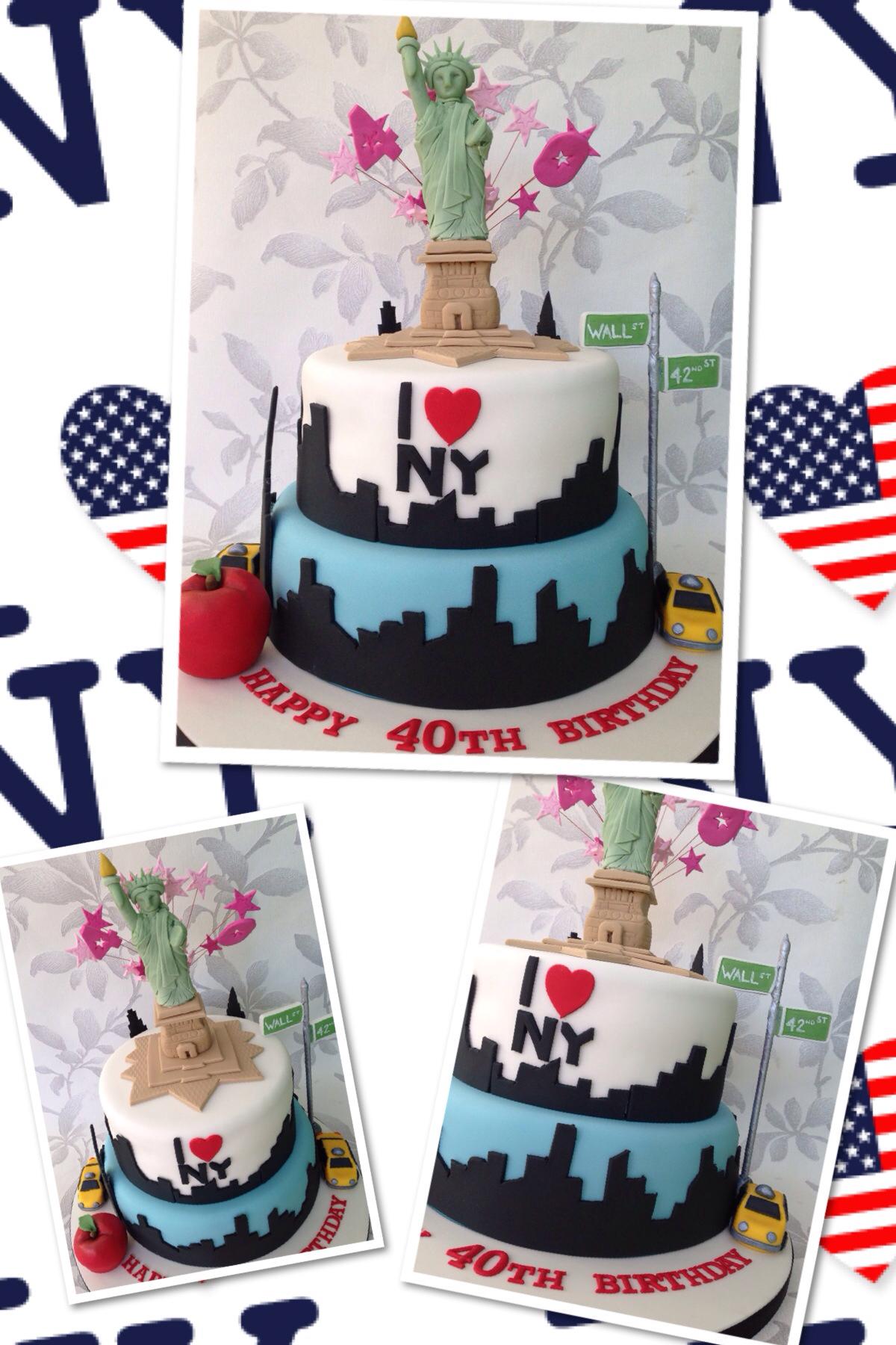 New York Themed 40th Birthday Cake