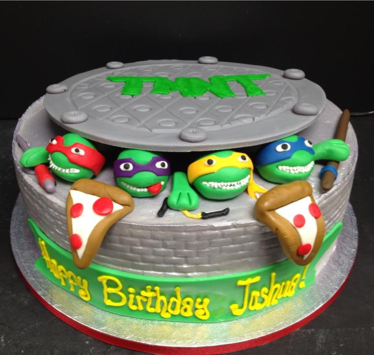 Groovy 13 Birthday Cakes Mutant Ninja Turtles Photo Teenage Mutant Funny Birthday Cards Online Elaedamsfinfo