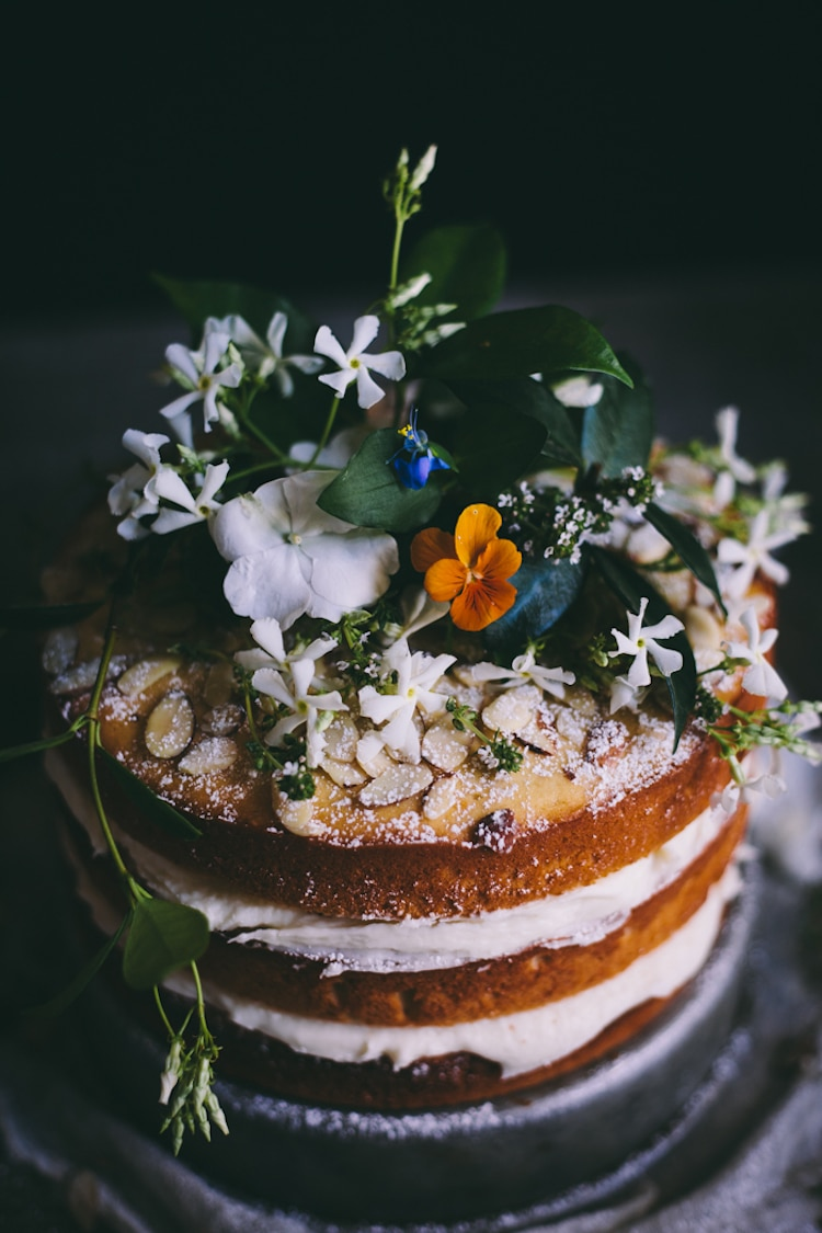 Orange Almond Cake with Buttercream