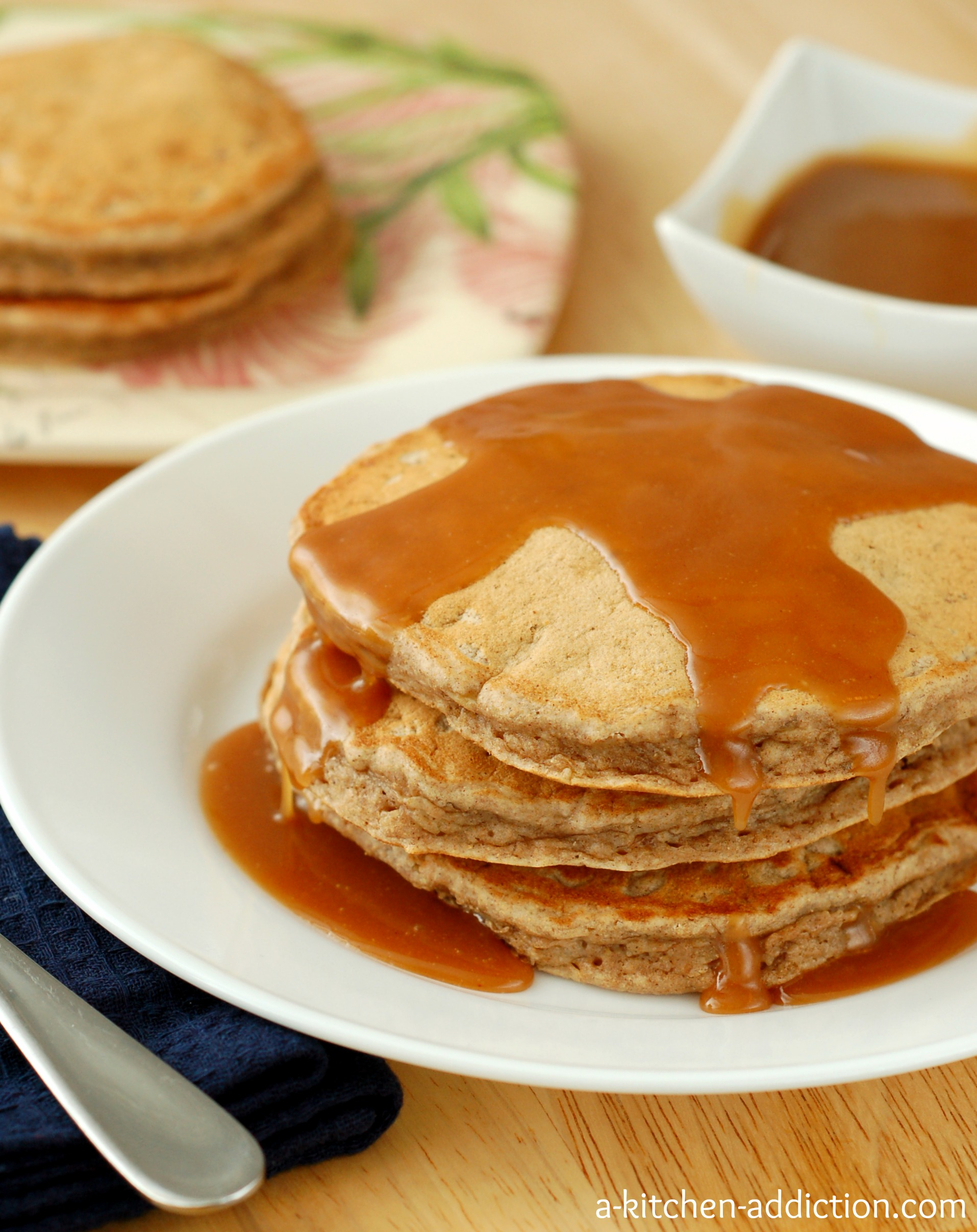 Pancakes with Peanut Butter and Syrup