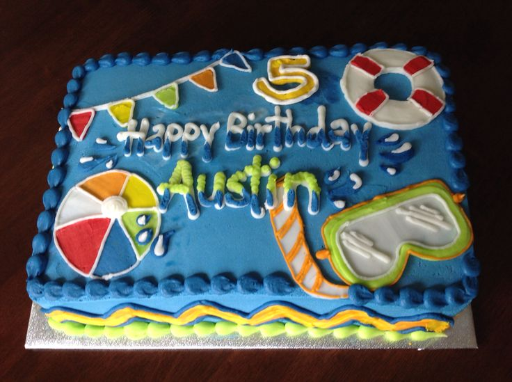 Pool Party Birthday Cake Ideas
