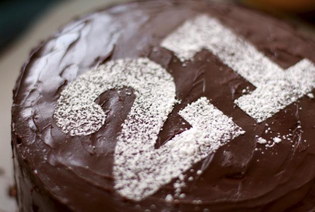 Powdered-Sugar Stencil On Cake