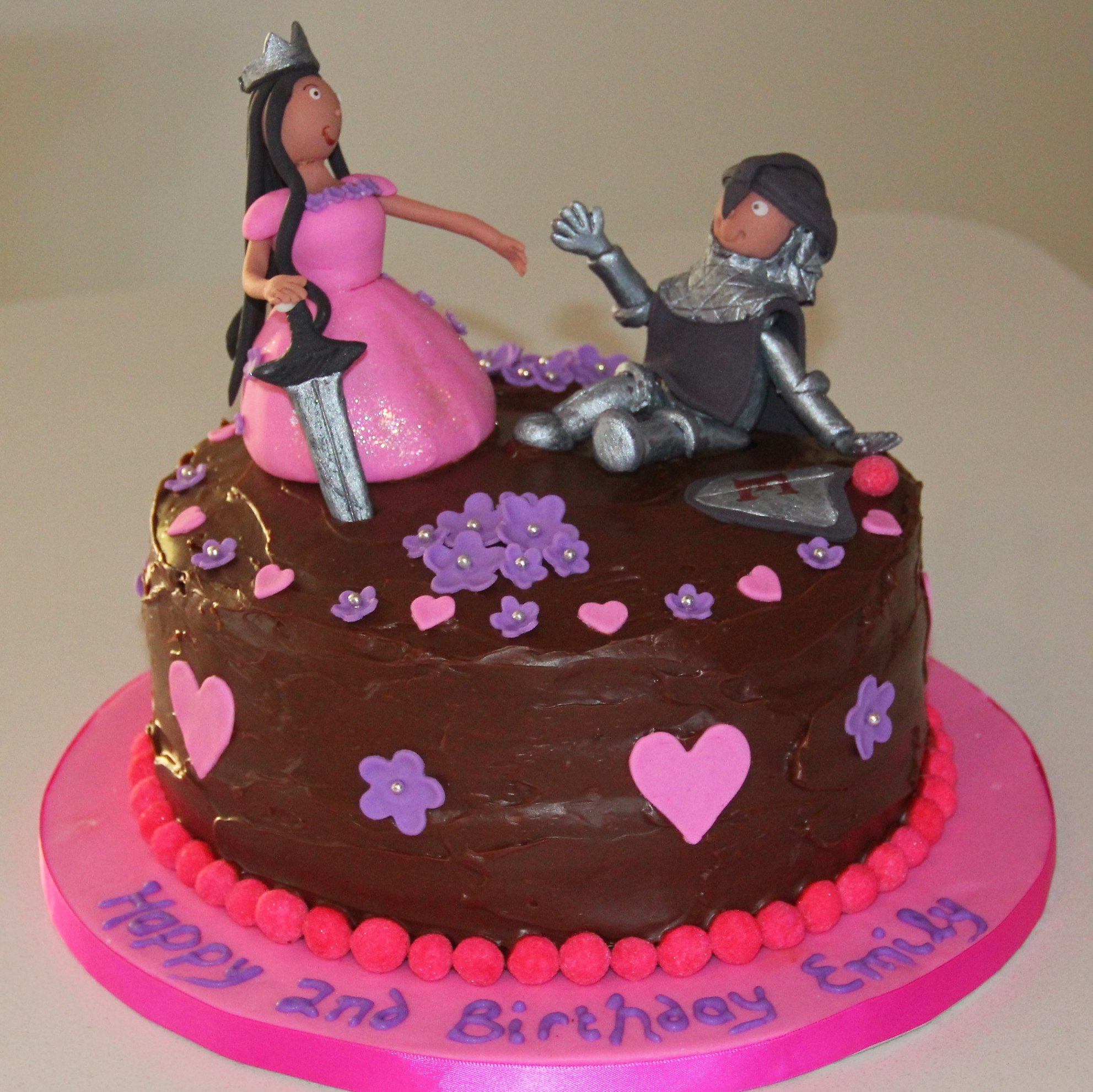 Princess and Knight Birthday Cake