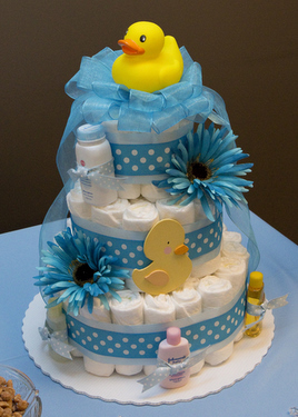 Rubber Duck Baby Shower Diaper Cake