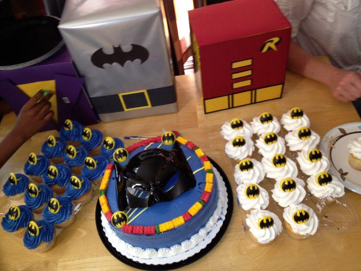 Sam Club Batman Cake and Cupcakes