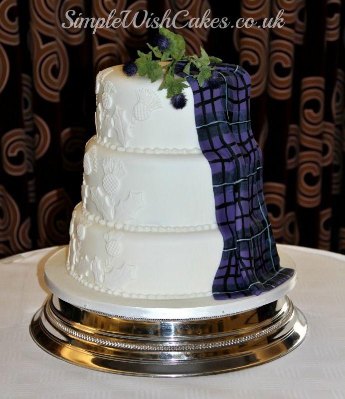 Scottish Tartan Wedding Cake