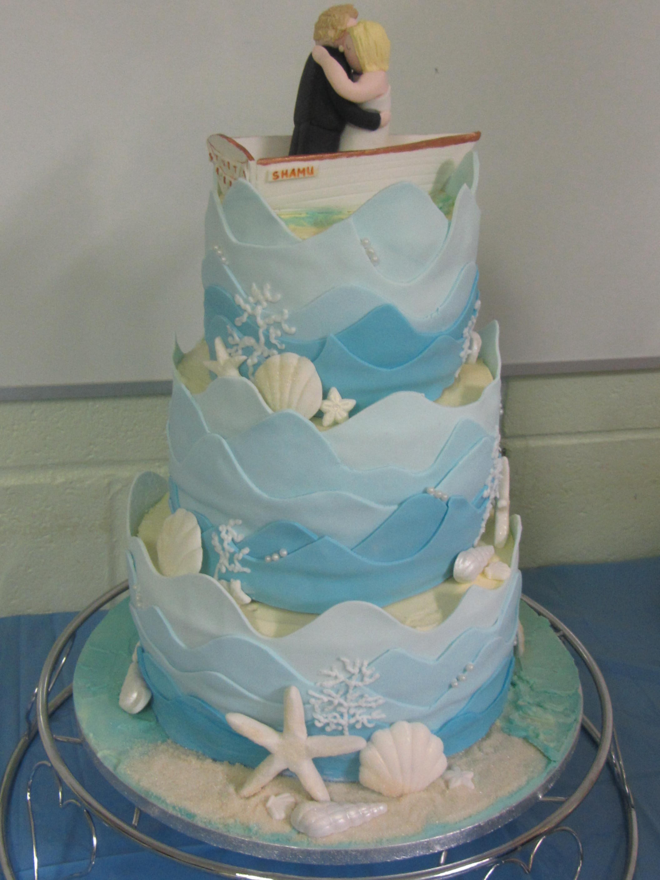 Sea Beach Theme Wedding Cakes