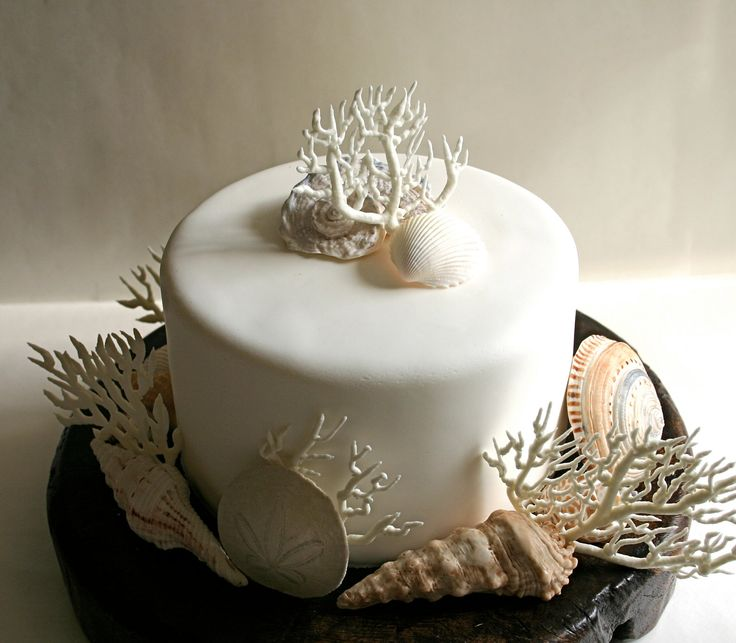Seashell Wedding Cake Decorations