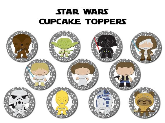 Star Wars Cupcake Toppers Printable Free