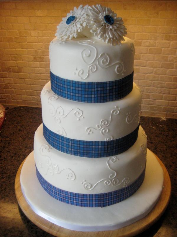 Tartan Wedding Cake Ribbon