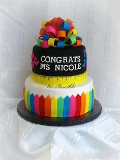 Teacher Graduation Cake Idea
