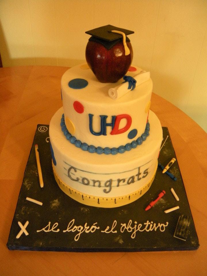 Teacher Graduation Cake
