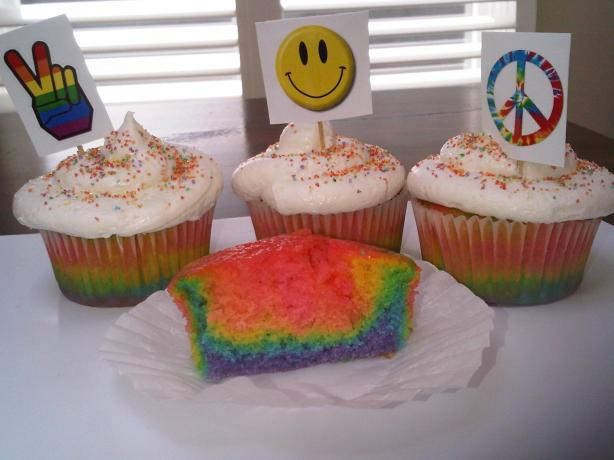 Tie Dye Cupcake Recipe