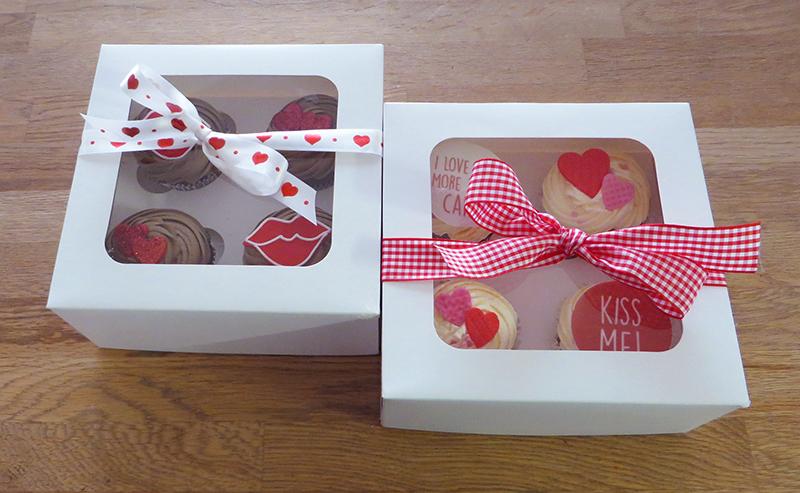 Valentine's Day Cupcake Gift Box