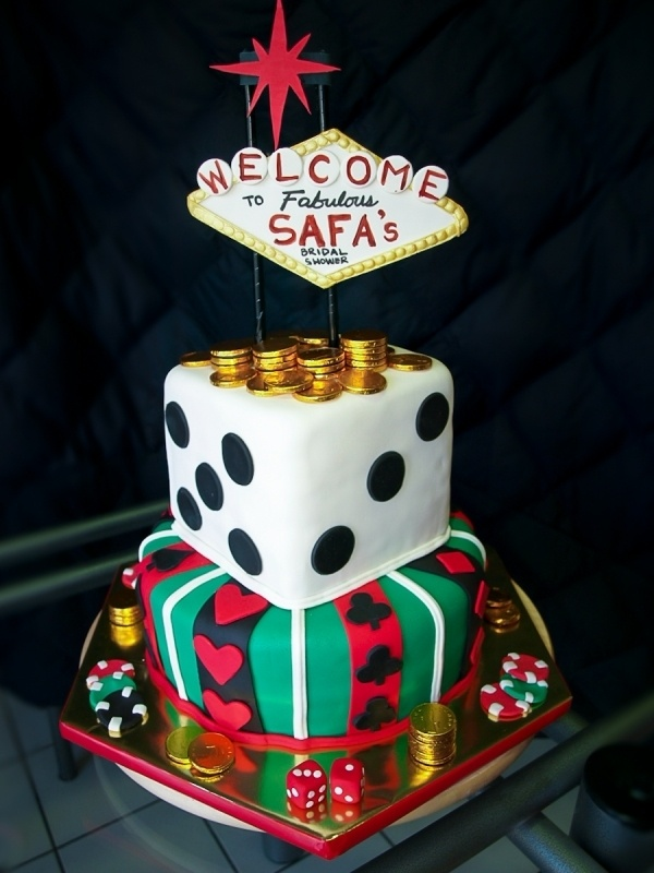 Vegas Themed Bridal Shower Cake