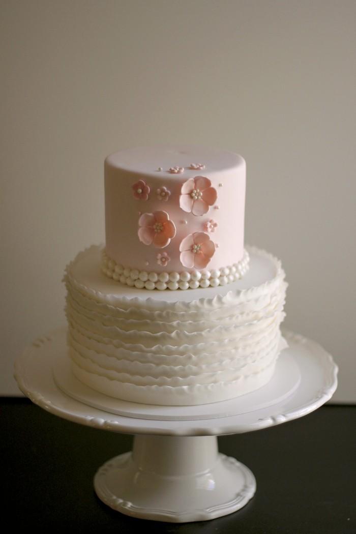Vintage Pink Baby Shower Cake