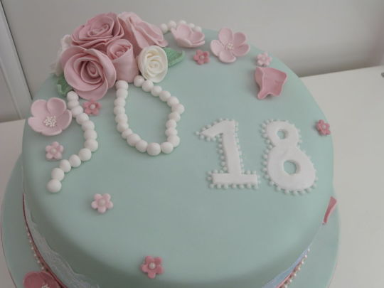 Vintage Theme Birthday Cake