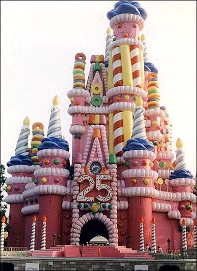 Walt Disney World Castle 25th Anniversary Cake
