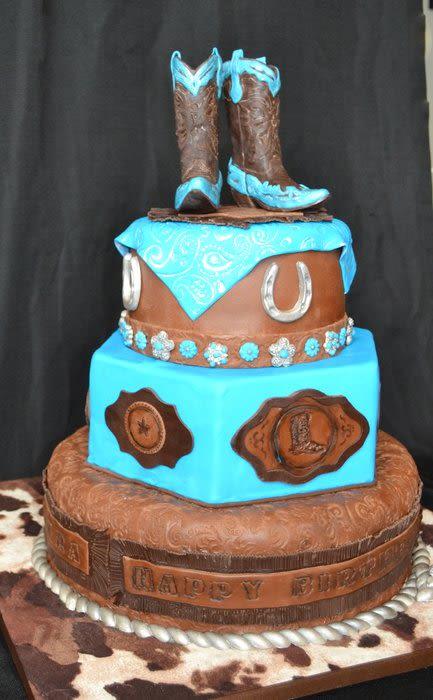 Western Cowgirl Birthday Cake Ideas