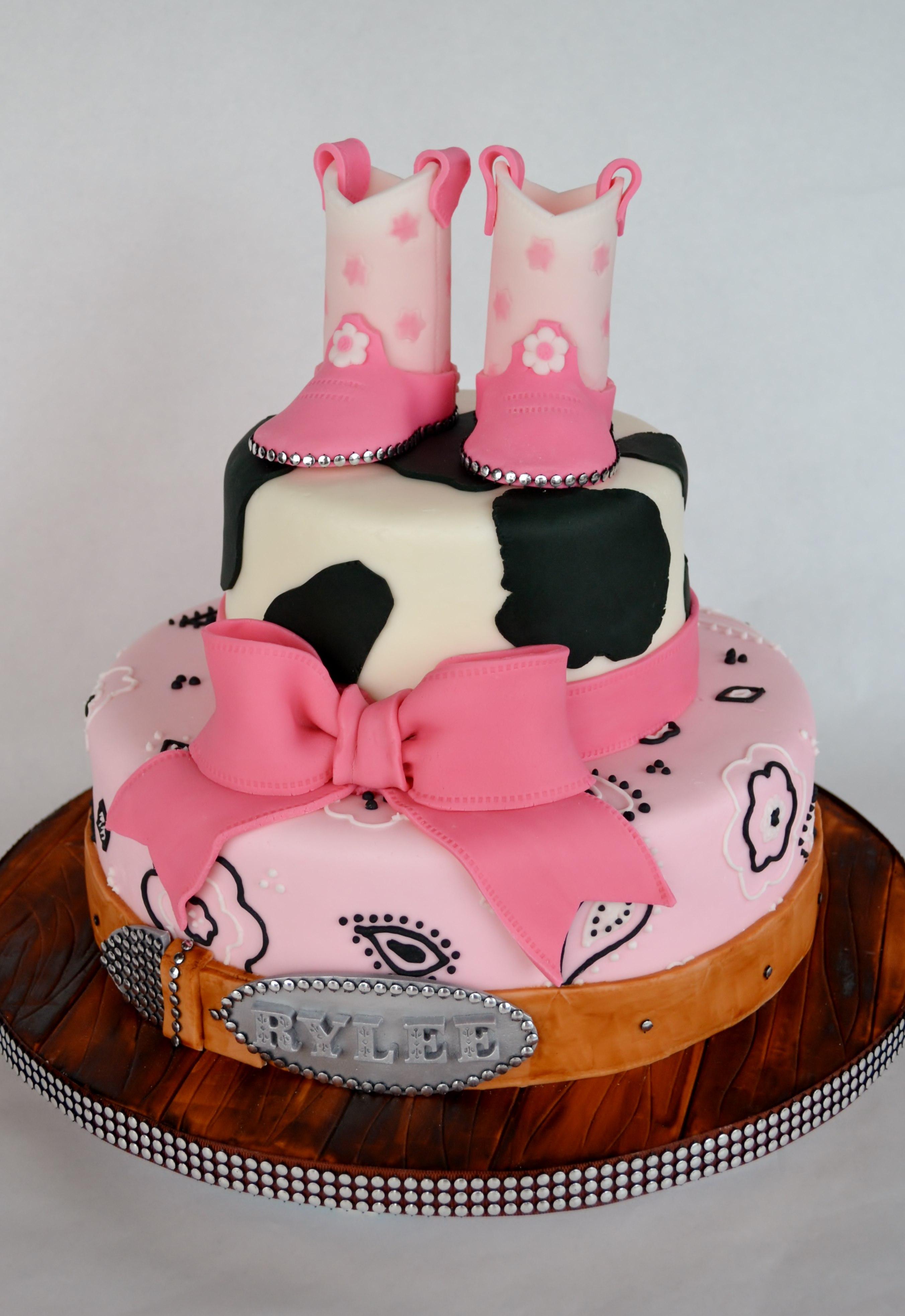 Western Cowgirl Birthday Cake