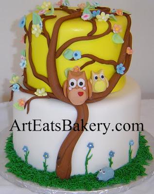 White and Yellow Baby Shower Cake
