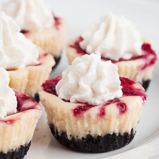White Chocolate Raspberry Cheesecake Bites