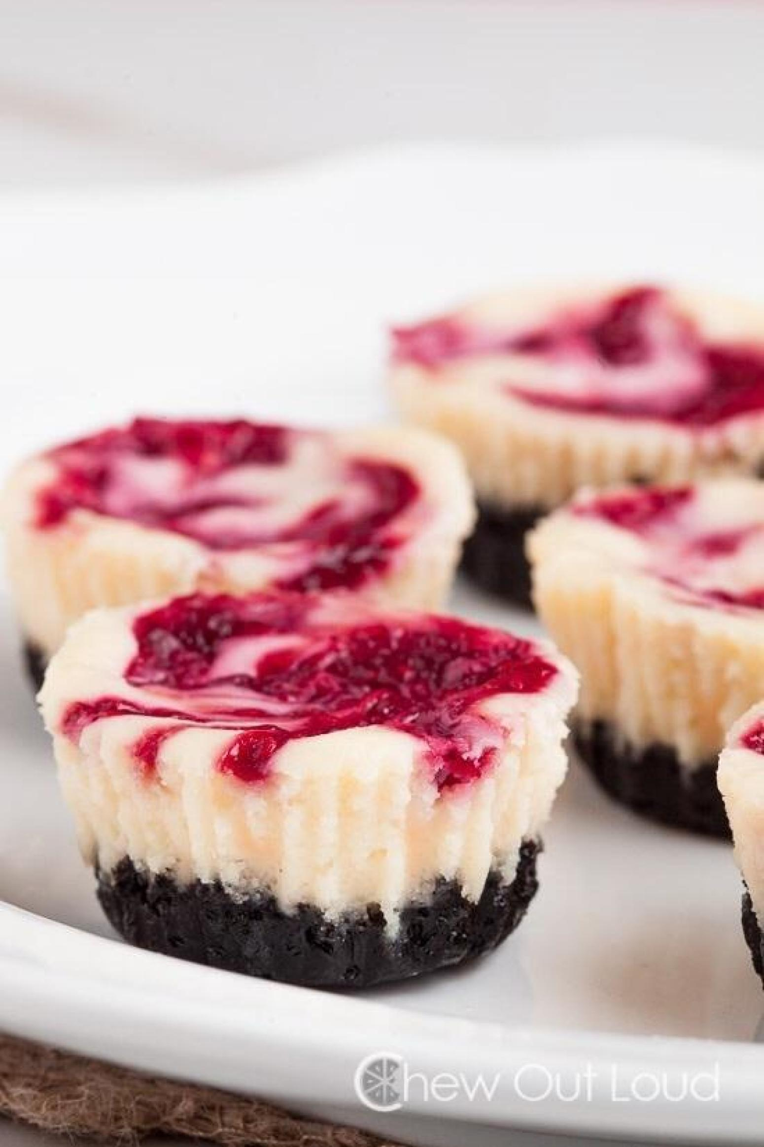 White Chocolate Raspberry Mini Cheesecake Recipe