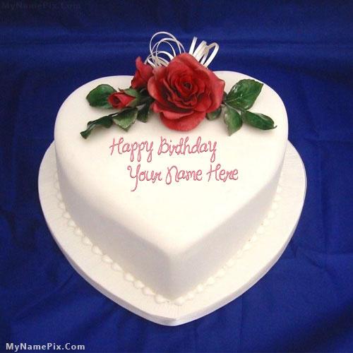 Write Name On Happy Birthday Cake