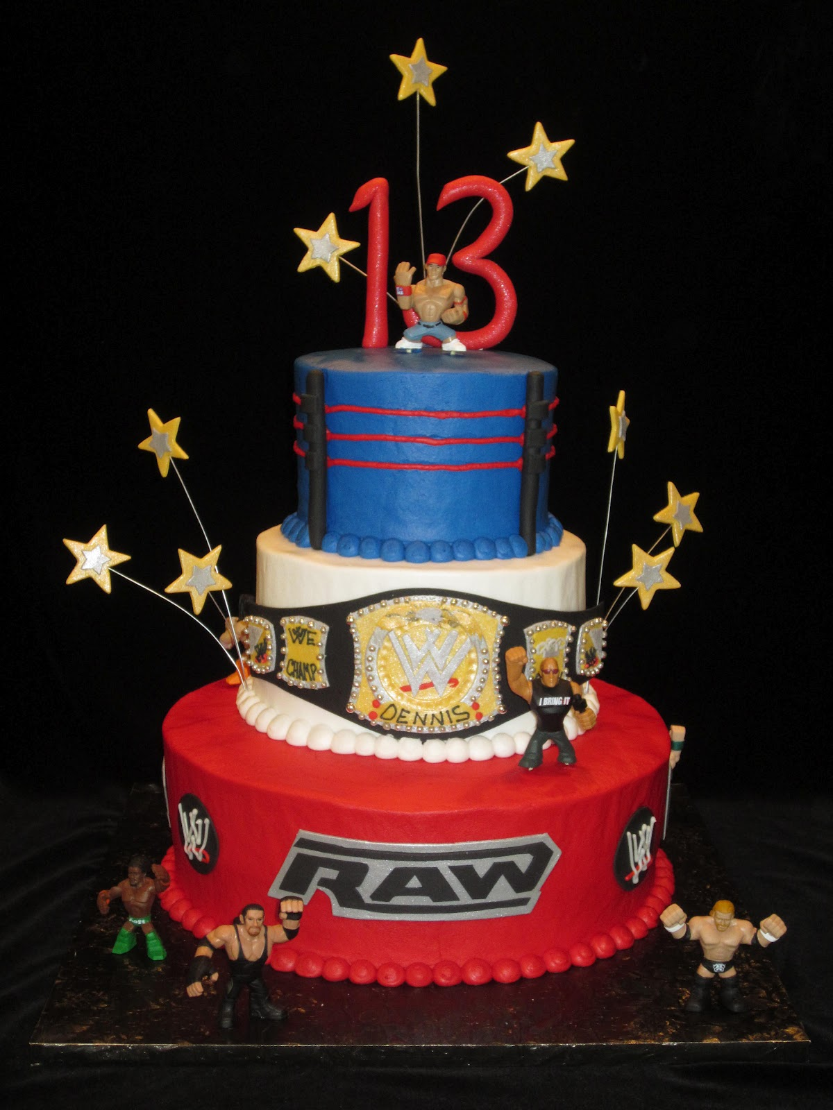 WWE Birthday Party Cake