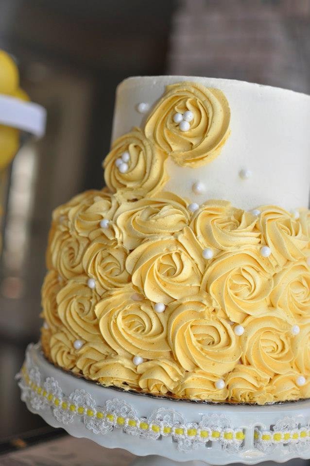 Yellow Birthday Cake Buttercream