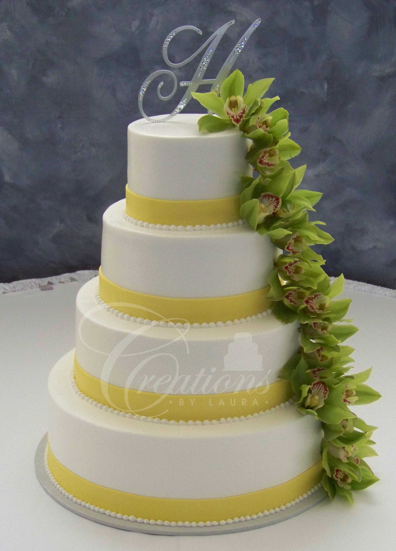 Yellow Cake with Fresh Flowers